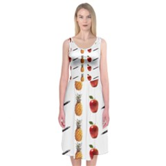 Ppap Pen Pineapple Apple Pen Midi Sleeveless Dress