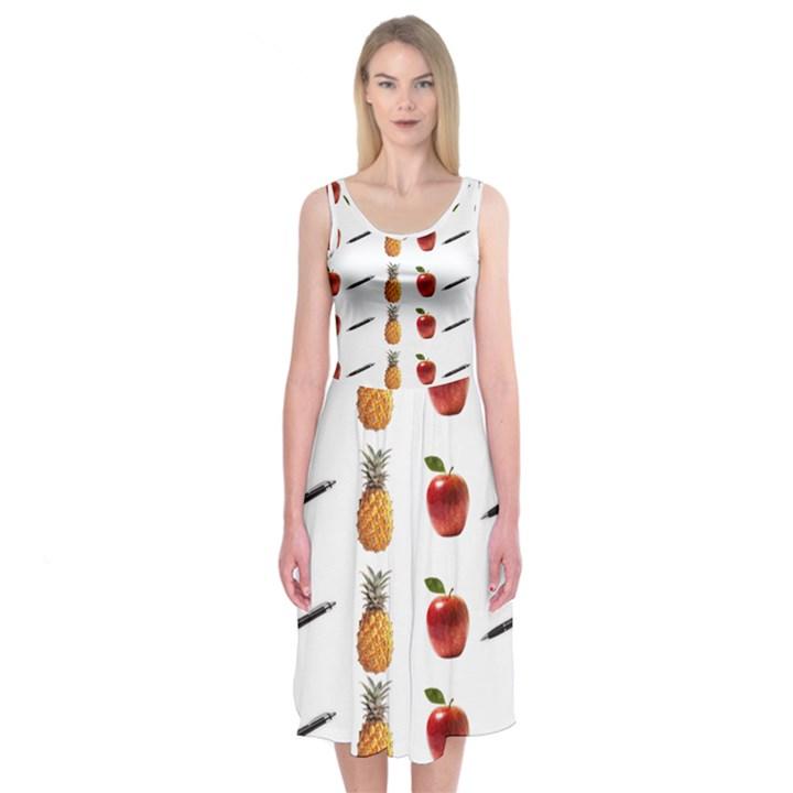 Ppap Pen Pineapple Apple Pen Midi Sleeveless Dress