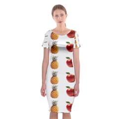 Ppap Pen Pineapple Apple Pen Classic Short Sleeve Midi Dress