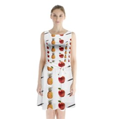 Ppap Pen Pineapple Apple Pen Sleeveless Chiffon Waist Tie Dress