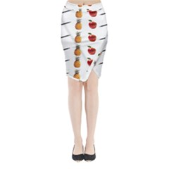 Ppap Pen Pineapple Apple Pen Midi Wrap Pencil Skirt