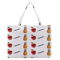 Ppap Pen Pineapple Apple Pen Medium Zipper Tote Bag