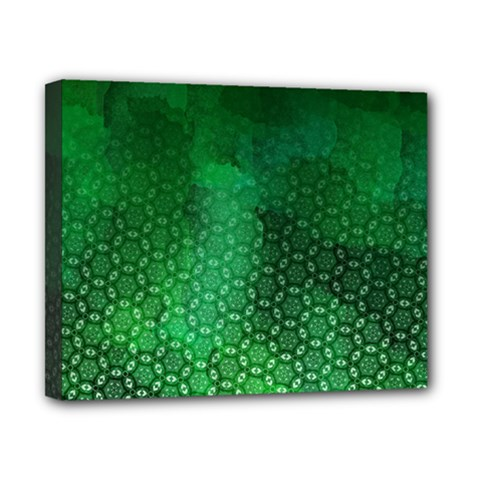 Ombre Green Abstract Forest Canvas 10  X 8