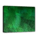 Ombre Green Abstract Forest Canvas 14  x 11  View1