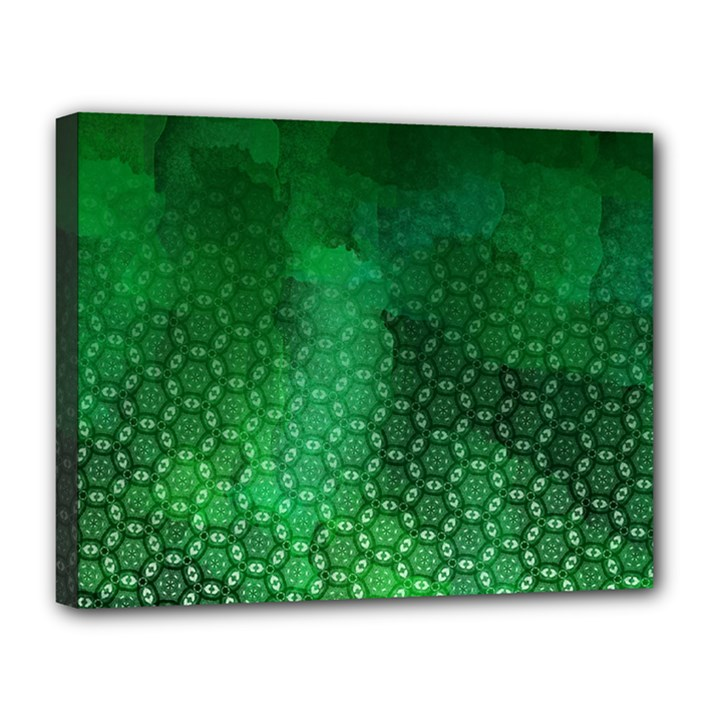 Ombre Green Abstract Forest Canvas 14  x 11