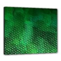 Ombre Green Abstract Forest Canvas 24  x 20  View1