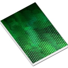 Ombre Green Abstract Forest Large Memo Pads