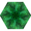 Ombre Green Abstract Forest Mini Folding Umbrellas View1