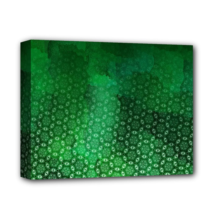 Ombre Green Abstract Forest Deluxe Canvas 14  x 11