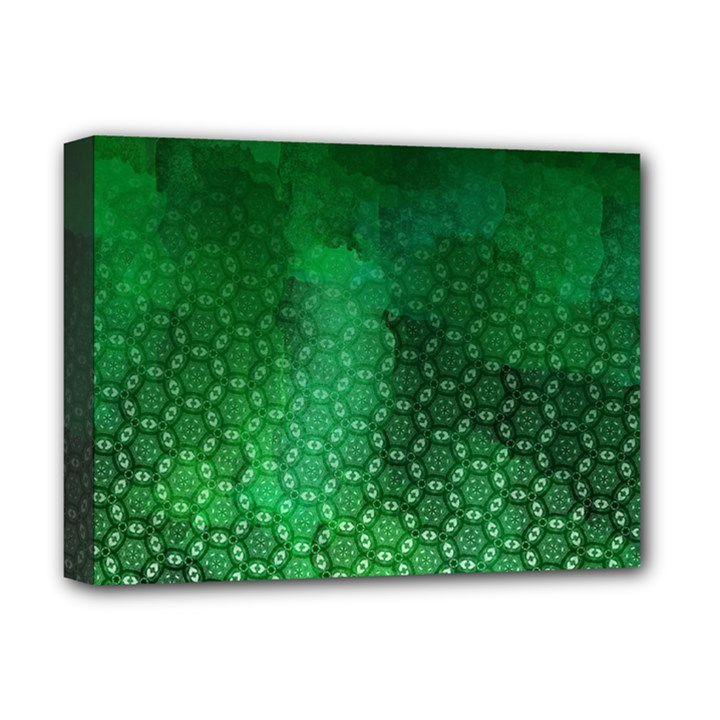 Ombre Green Abstract Forest Deluxe Canvas 16  x 12