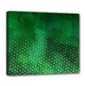 Ombre Green Abstract Forest Deluxe Canvas 24  x 20   View1