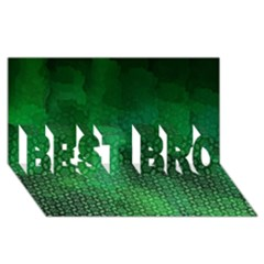Ombre Green Abstract Forest BEST BRO 3D Greeting Card (8x4)
