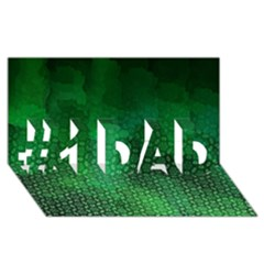 Ombre Green Abstract Forest #1 DAD 3D Greeting Card (8x4)