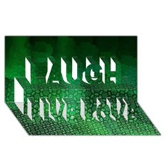 Ombre Green Abstract Forest Laugh Live Love 3d Greeting Card (8x4)