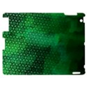 Ombre Green Abstract Forest Apple iPad 2 Hardshell Case View1