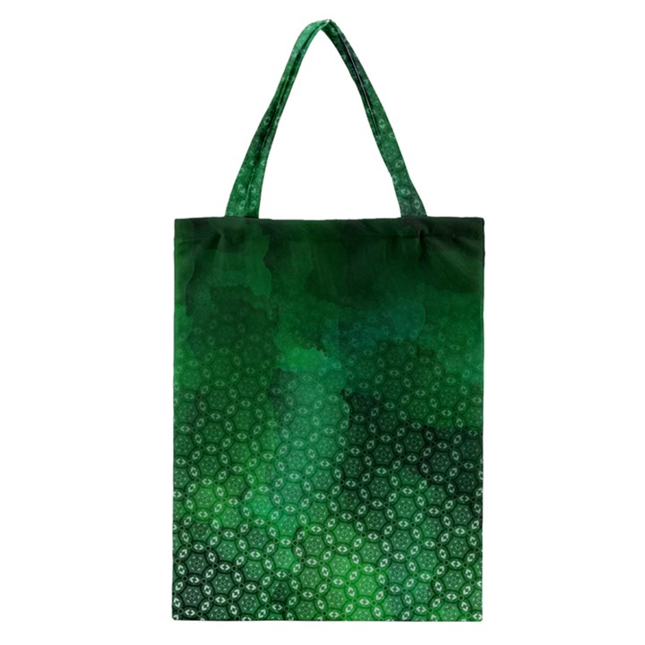 Ombre Green Abstract Forest Classic Tote Bag