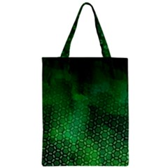 Ombre Green Abstract Forest Zipper Classic Tote Bag