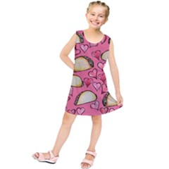 Taco Tuesday Lover Tacos Kids  Tunic Dress