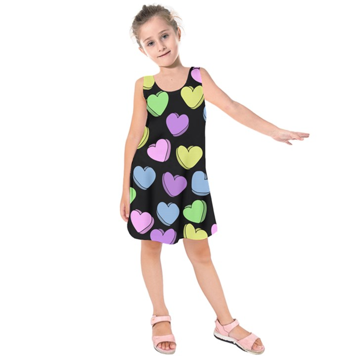 Valentine s Hearts Kids  Sleeveless Dress