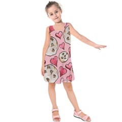 Chocolate Chip Cookies Kids  Sleeveless Dress
