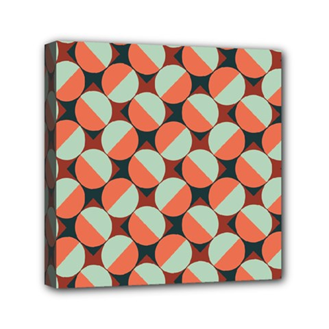 Modernist Geometric Tiles Mini Canvas 6  x 6