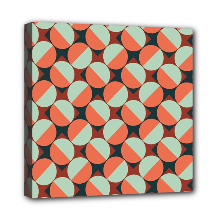 Modernist Geometric Tiles Mini Canvas 8  x 8
