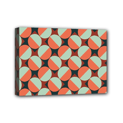 Modernist Geometric Tiles Mini Canvas 7  X 5