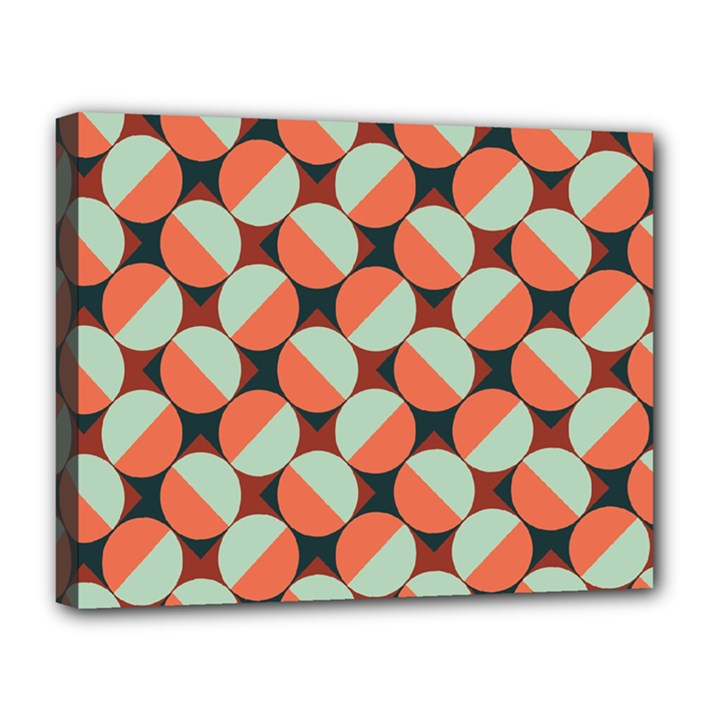 Modernist Geometric Tiles Canvas 14  x 11