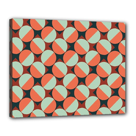 Modernist Geometric Tiles Canvas 20  x 16
