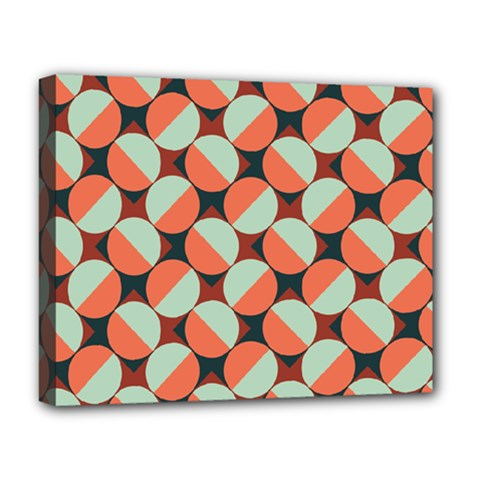 Modernist Geometric Tiles Deluxe Canvas 20  X 16