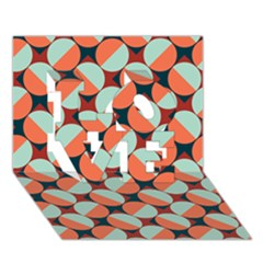 Modernist Geometric Tiles LOVE 3D Greeting Card (7x5)