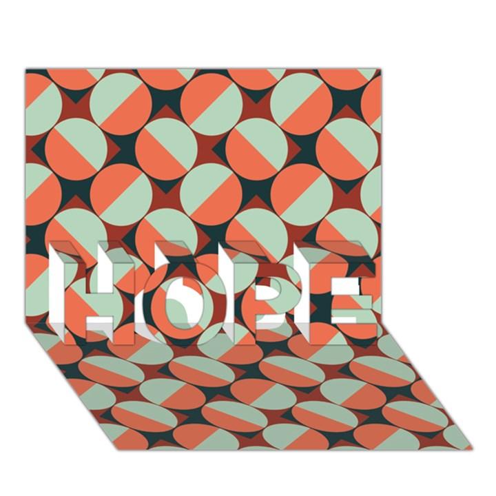 Modernist Geometric Tiles HOPE 3D Greeting Card (7x5)