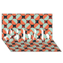 Modernist Geometric Tiles #1 DAD 3D Greeting Card (8x4)