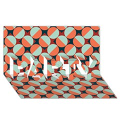 Modernist Geometric Tiles PARTY 3D Greeting Card (8x4)