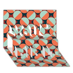 Modernist Geometric Tiles You Did It 3D Greeting Card (7x5)