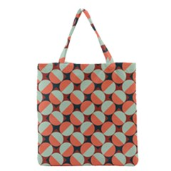 Modernist Geometric Tiles Grocery Tote Bag