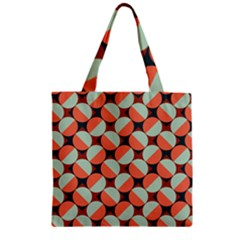 Modernist Geometric Tiles Zipper Grocery Tote Bag