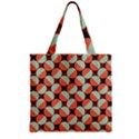 Modernist Geometric Tiles Zipper Grocery Tote Bag View2