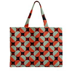 Modernist Geometric Tiles Zipper Mini Tote Bag