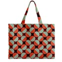 Modernist Geometric Tiles Zipper Mini Tote Bag View2