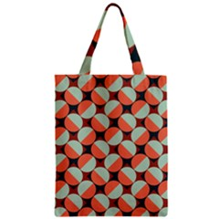 Modernist Geometric Tiles Zipper Classic Tote Bag