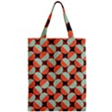 Modernist Geometric Tiles Zipper Classic Tote Bag View1