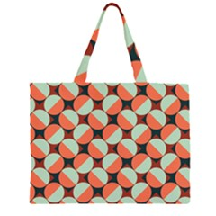 Modernist Geometric Tiles Large Tote Bag