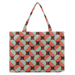 Modernist Geometric Tiles Medium Zipper Tote Bag