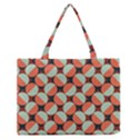 Modernist Geometric Tiles Medium Zipper Tote Bag View1