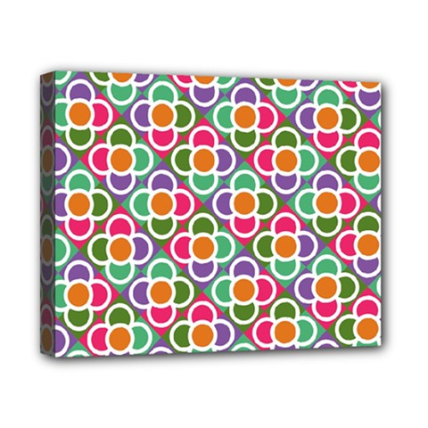 Modernist Floral Tiles Canvas 10  X 8