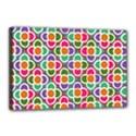 Modernist Floral Tiles Canvas 18  x 12  View1