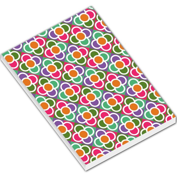 Modernist Floral Tiles Large Memo Pads