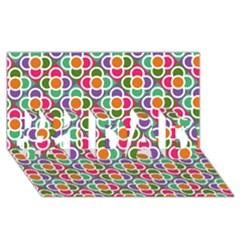 Modernist Floral Tiles #1 DAD 3D Greeting Card (8x4)