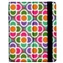 Modernist Floral Tiles Apple iPad 2 Flip Case View2